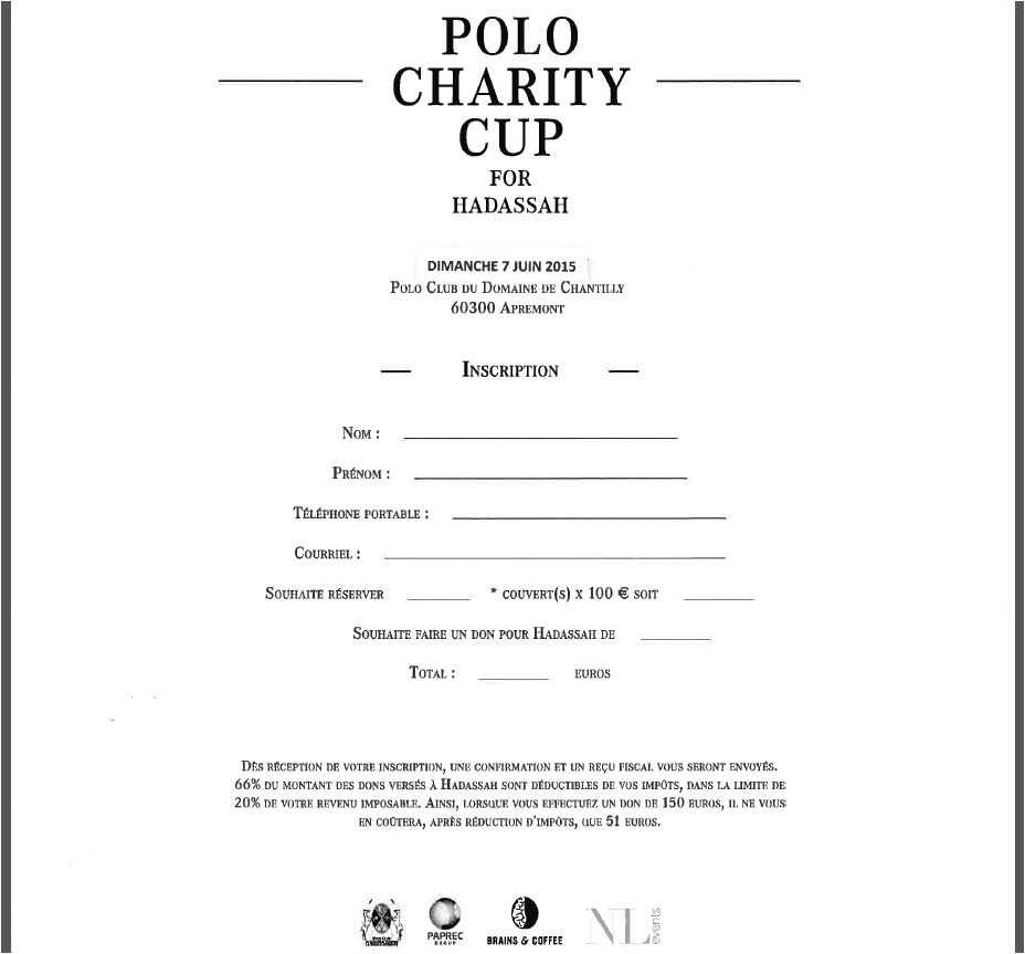Invitation Polo Charity Cup for Hadassah 7 juin 2015 (2/2)