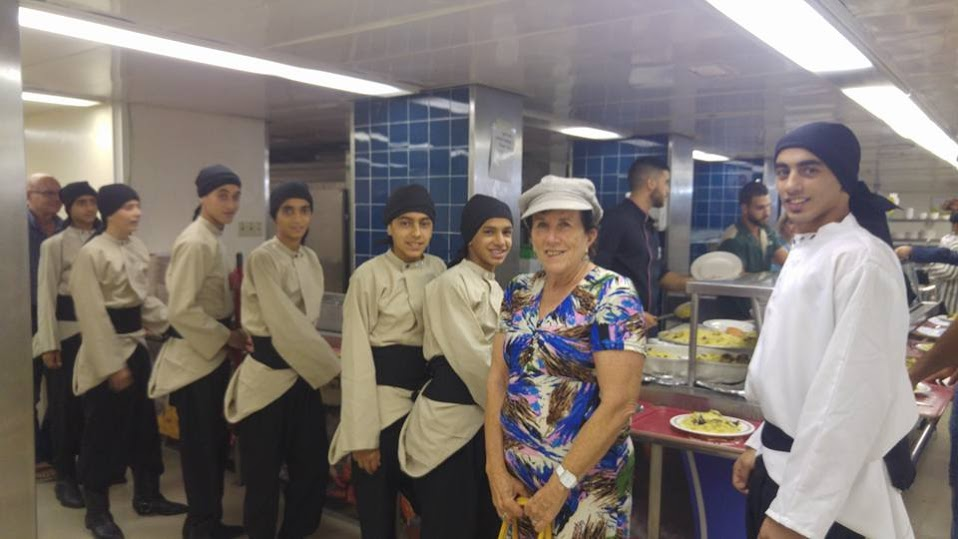 Debke Dancers with Barbara Sofer at Iftar Event